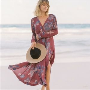 free people miranda button down floral midi dress